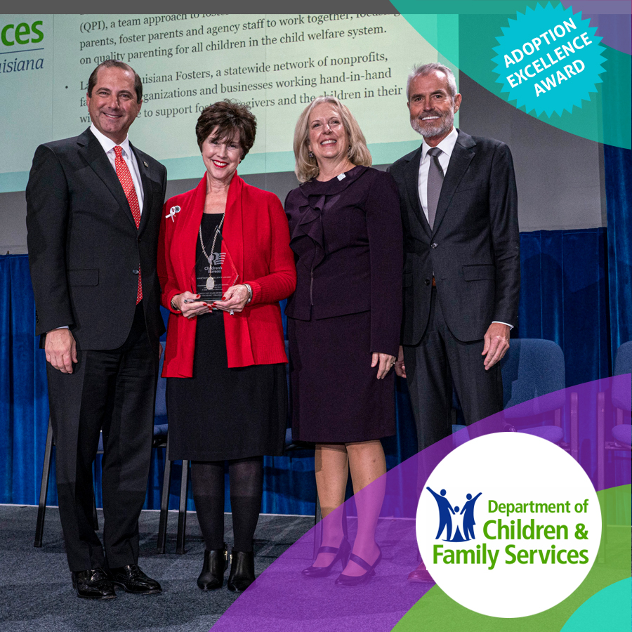 Louisiana Fosters – Louisiana DCFS Receives National Award for Work in Adoption