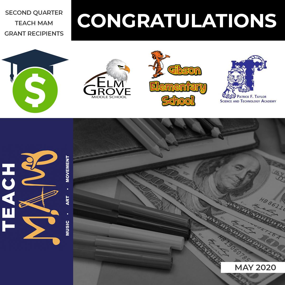 Teach MAM – Second Quarter Grant Recipients