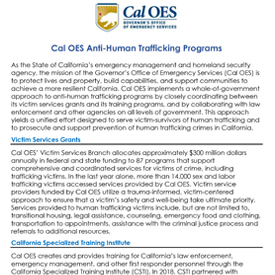California - Cal OES Anti-Human Trafficking Programs