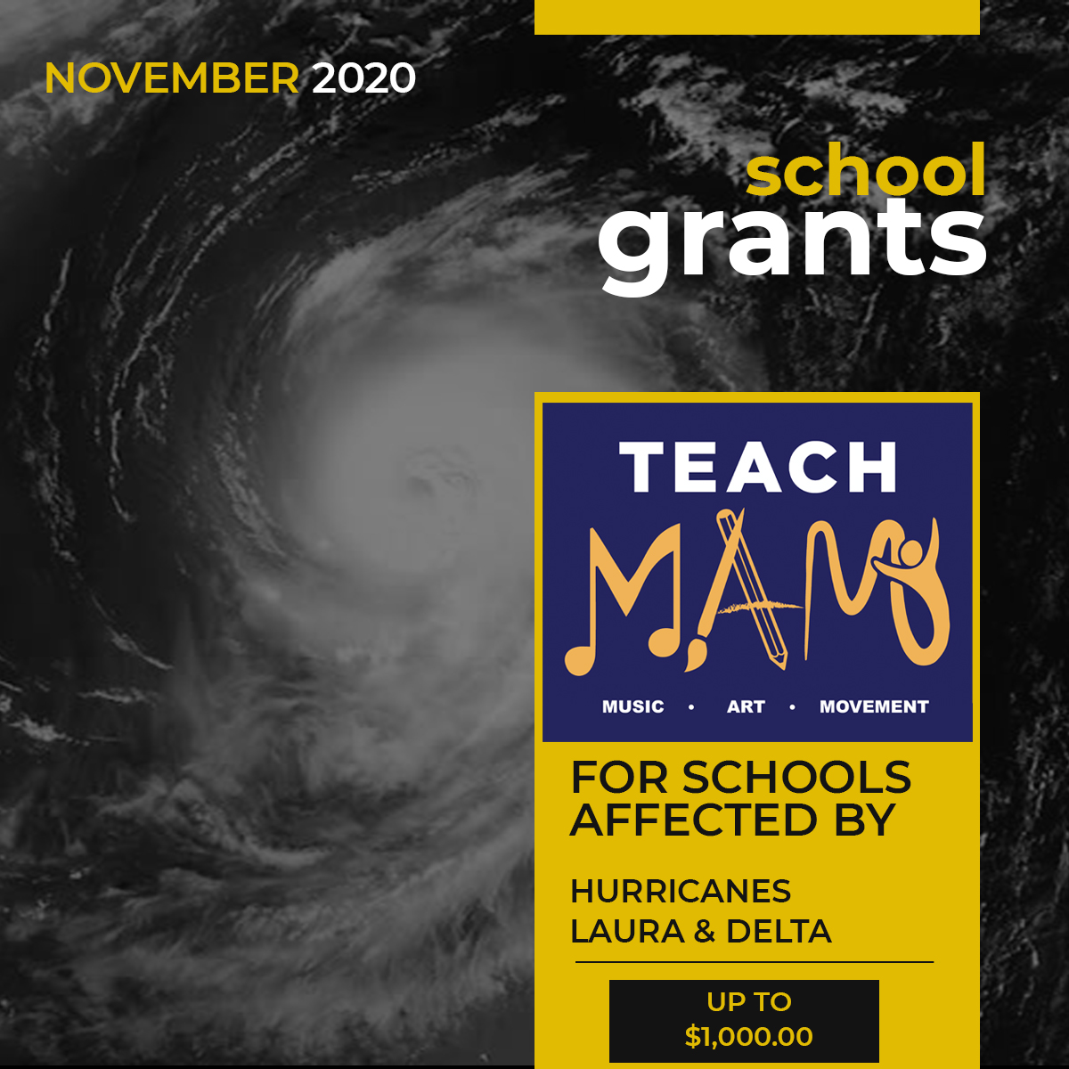 Teach MAM – Grants to Schools in Areas Affected by Hurricanes