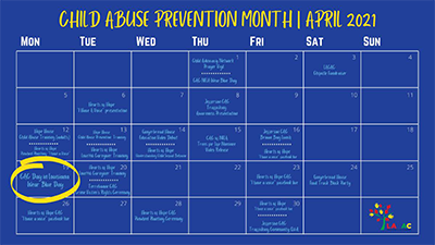Child Abuse Prevention Month - Calendar of Events