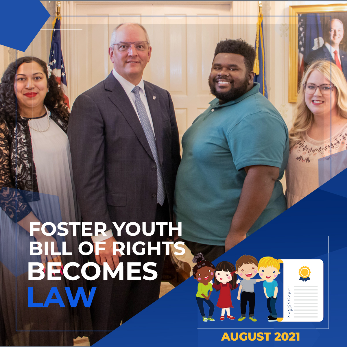 Louisiana Fosters – Foster Youth Bill of Rights Becomes Law